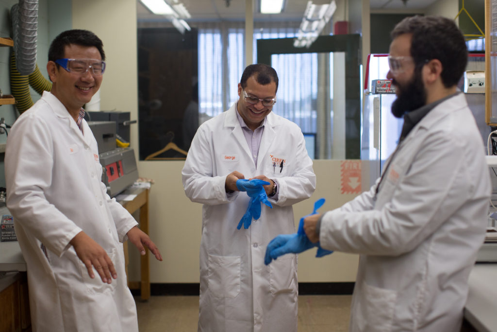 Cerion Nanomaterials Staff in a Lab